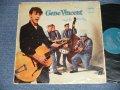 "GENE VINCENT AND HIS BLUE CAPS  - GENE VINCENT AND HIS BLUE CAPS  (Ex+/Ex++ Looks:Ex- EDSP, Tape Seam) / 1957 UK ENGLAND ORIGINAL 1st Press""TURQUOISE Label"" MONO Used LP"