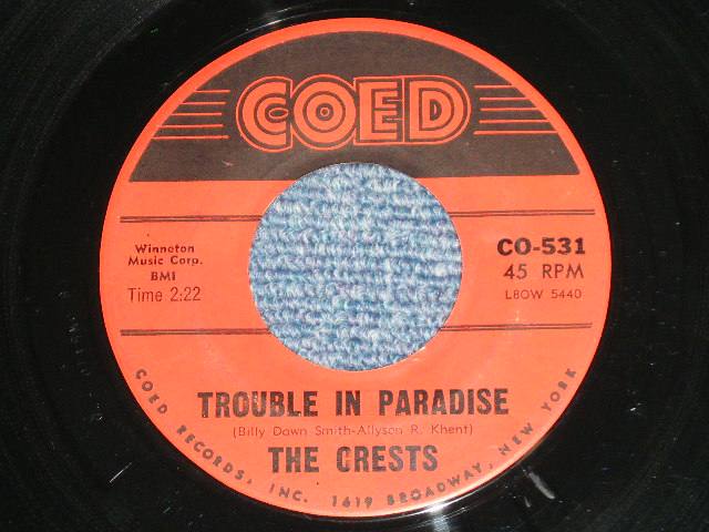 The Crests Trouble In Paradise - I Thank The Moon