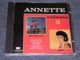 ANNETTE - VOL.3 ( MUSCLE BEACH PARTY + ANNETTE ) / ORIGINAL ALBUM 2 in 1 ) / 1991 US BRAND NEW CD