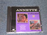ANNETTE - VOL.2 ( GOLDEN SURFIN' HITS + BEACH PARTY / ORIGINAL ALBUM 2 in 1 ) / 1991 US BRAND NEW CD