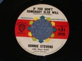 "CONNIE STEVENS - IF YOU DON'T SOMEBODY ELSE WILL / 1961 US ORIGINAL White Label PROMO 7"" SINGLE"