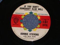 """画像1: CONNIE STEVENS - IF YOU DON'T SOMEBODY ELSE WILL / 1961 US ORIGINAL White Label PROMO 7"""" SINGLE"""