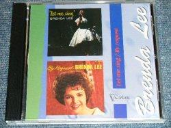 画像1: BRENDA LEE - LET ME SING + BY REQUEST ( 2 in 1 ) / PARAGUAY Original Brand New CD-R