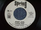 "LITTLE EVA - MAMA SAID ( NORTHERN STYLE SONG With BREAKBEATS! ) / 1970 US ORIGINAL White Label Promo 7"" SINGLE"