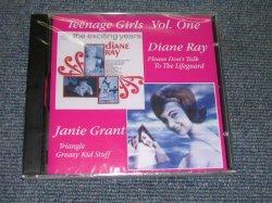 画像1: DIANE RAY +JANIE GRANT - TEENAGE GIRLS VOL.ONE 'PLEASE DON'T TAKE TO THE LIFEGUARD + TRIANGLE GREASY KID STUFF / 1994 CANADA BRAND NEW Sealed CD OUT-OF-PRINT now