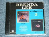 BRENDA LEE - VOLUME 2 : EMOTIONS + ALL ALONE AM I ( 2 in 1 ) / 1992 US RE-PRESS Brand New CD-R