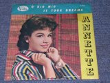 "ANNETTE - O DIO MIO / 1960 US ORIGINAL With PICTURE SLEEVE 7"" SINGLE"