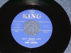 """画像1: APRIL STEVENS - SOFT WARM LIPS / 1963 US ORIGINAL 7"""" SINGLE"""
