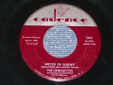 "THE CHORDETTES - NEVER ON SUNDAY / 1961 US ORIGINAL 7"" SINGLE"