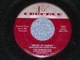 """THE CHORDETTES - NEVER ON SUNDAY / 1961 US ORIGINAL 7"""" SINGLE"""