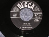 "5 DeMARCO SISTERS - LOVE ME / 1954 US ORIGINAL 7"" SINGLE"