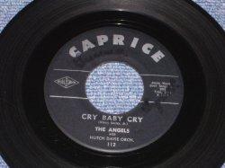 """画像1: THE ANGELS - CRY BABY CRY / 1961 US ORIGINAL 7"""" SINGLE"""