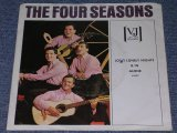 "THE 4 FOUR SEASONS -  LONG LONELY NIGHTS / 1964 US ORIGINAL White Label Promo 7"" Single With PICTURE SLEEVE"