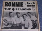 "THE 4 FOUR SEASONS -  RONNIN / 1964 US ORIGINAL White Label Promo 7"" Single With PICTURE SLEEVE"