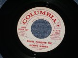 "KENNY KAREN - SUSIE FORGIVE ME / 1962 US ORIGINAL White Label Promo 7"" SINGLE"