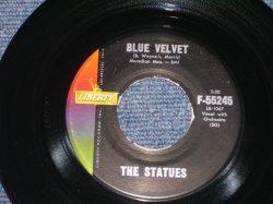 """画像1: THE STATUES ( Aka: GARY MILES ) - BLUE VELVET / 1959 US ORIGINAL 7"""" SINGLE"""