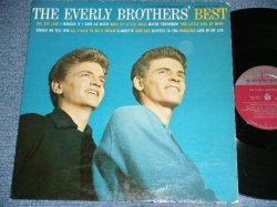 """画像1: The EVERLY BROTHERS - The EVERLY BROTHERS' BEST (1st Press """"MAROON Label With METORONOME Logo"""" : Ex++,Ex+/VG+++) / 1959 US ORIGINAL MONO Used LP"""