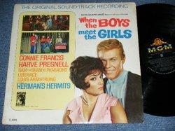 画像1: CONNIE FRANCIS + Others ost - WHEN THE BOYS MEET THE GIRLS  / 1965 US ORIGINAL MONO Used LP