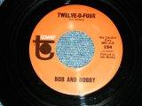 "BOB AND BOBBY ( BRIAN WILSON of THE BEACH BOYS RELATED ) - TWELVE-O-FOUR  / 1960's US ORIGINAL Used  7"" SINGLE"