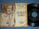"LESLEY GORE  - JUDY'S TURN TO CRY / 1963 US ORIGINAL  Used 7"" inch Single  With PICTURE SLEEVE"