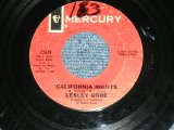 "LESLEY GORE  -  CALIFORNIA NIGHTS  / 1967 US ORIGINAL Used 7"" inch Single"