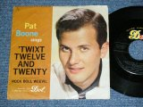 "PAT BOONE -  'TWIXT TWELVE AND TWENTY / 1959 US AMERICA ORIGINALIE Used 7"" inch Single  With PICTURE SLEEVE"