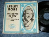"LESLEY GORE  - IT'S GOTTA BE YOU  / 1964 US ORIGINAL  Used 7"" inch Single  With PICTURE SLEEVE"