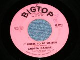 "ANDREA CARROLL with CHIFFONS - IT HURTS TO BE SIXTEEN / 1963 US AMERICA ORIGINAL Used 7"" SINGLE"