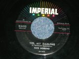 "FATS DOMINO - YES, MY DARLING / 1958  US ORIGINAL Used 7"" Single"