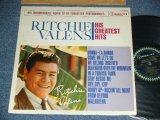 RITCHIE VALENS - HIS GREATEST HITS ( WHITE COLOR COVER : Ex-/VG+++  ) / 1963 US ORIGINAL mono LP