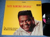 "FATS DOMINO - FATS DOMINO SWINGS ( Ex+/Ex++ )  / 1964 Release Version US AMERICA ORIGINAL ""BLACK with PINK  Label""  STEREO Used  LP"