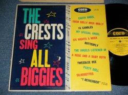 """画像1: THE CRESTS - SING ALL BIGGIES ( Ex+/Ex++ : A-2,3 Press Miss JUMP) / 1960 US ORIGINAL Rare! """"YELLOW LABEL With BLACK PRINT""""  MONO Used LP"""
