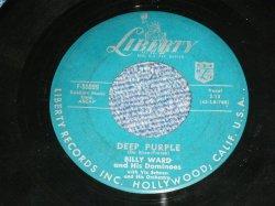 """画像1: BILLY WARD and The DOMINOES - DEEP PURPLE : DO IT AGAIN  ( Ex+/Ex )   / 1957 US AMERICA ORIGINAL   Used 7""""45rpm Single"""