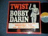 BOBBY DARIN - TWIST WITH BOBBY DARIN ( Black Cover ; Ex+/Ex++ ) / 1962 US ORIGINAL 2nd Press Label MONO LP
