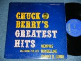 "CHUCK BERRY -  GREATEST HITS   ( Ex/Ex+ )  / 1964 US AMERICA ORIGINAL ""HEAVY Weight & BLUE With SILVER Print"" Label Used MONO  LP"