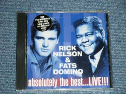 "画像2: RICKY NELSON & FATS DOMINO - ABSOLUTELY THE BEST...LIVE!!! ( SEALED ) / 2000 US AMERICA ORIGINAL ""BRAND NEW SEALED"" CD"