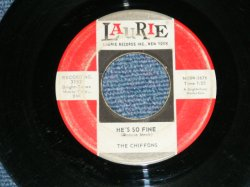 "画像1: THE CHIFFONS -HE'S SO FINE ( VG+++/VG+++ )   /1963 US AMERICA ORIGINAL Used 7"" SINGLE"