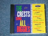 "The CRESTS - SING ALL BIGGIES ( SEALED)  / 1996 US AMERICA ORIGINAL ""BRAND NEW SEALED"" CD"