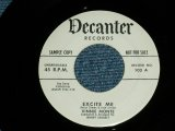 "VINNIE MONTE - EXCITE ME : A FRESHMAN WITH A SENIOR DREAM ( Ex+++/Ex+++ )  /  1959  US AMERICA ORIGINAL ""WHITE LABEL PROMO""  Used 7"" SINGLE"