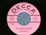 "THE SHIRELLES - MY LOVE IS A CHARMS ; SLOP TIME ( Ex-/Ex- ) / 1958  US AMERICA  ORIGINAL""PINK LABEL PROMO"" Used 7"" SINGLE"