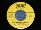 "VITO & The SALUTATIONS  (VITO BALSAMO : BLACK DOO-WOP ) - UNCHAINEDD MELODY ( FAST VERSION ) : HEY,HEY BABY  (Ex+/Ex+) / 1963 US AMERICA ORIGINAL Used 7"" SINGLE"