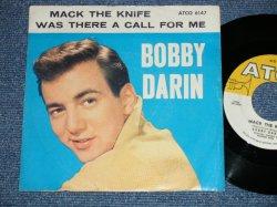 """画像1: BOBBY DARIN - MACK THE KNIFE : WAS THERE A CALL FOR ME  ( Ex/Ex+) / 1959 US AMERICA ORIGINAL  Used  7"""" Single  With PICTURE SLEEVE"""