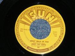 """画像1: JERRY LEE LEWIS - GREAT BALLS OF FIRE ( Ex+++/Ex+++ ) / 1957 US AMERICA  ORIGINAL Used  7"""" Single"""