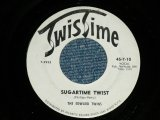 "The EDWARD TWINS - SUGARTIME TWIST  :; NO MORE SUGARTIME ( Ex++/Ex++)   / Early 1960's  US AMERICA ORIGINAL Used 7""45rpm Single"