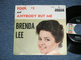"BRENDA LEE -  FOOL #1 : ANYBODY BUT ME  ( Ex/VG++ ) / 1961 US AMERICA ORIGINAL  Used  7"" Single with PICTURE SLEEVE"