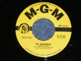 """CONNIE FRANCIS - MY HAPPINESS : NEVER BEFORE   ( Ex++/Ex++) / 1958's  US AMERICA ORIGINAL Used 7"""" SINGLE"""