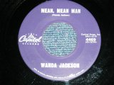 "WANDA JACKSON  - MEAN MEAN MAN  : HAPPY HAPPY BIRTHDAY ( Ex+++/Ex++)  / 1960 US AMERICA ORIGINAL Used 7""Singl"