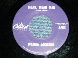 """画像1: WANDA JACKSON  - MEAN MEAN MAN  : HAPPY HAPPY BIRTHDAY ( Ex+++/Ex++)  / 1960 US AMERICA ORIGINAL Used 7""""Singl"""