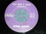 "WANDA JACKSON  With GENE VINCENT'S BLUE CAPS -  LET'S HAVE A PARTY : COOL LOVE ( Ex/Ex)  / 1960 US AMERICA ORIGINAL Used 7""Singl"