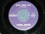 "WANDA JACKSON  - MEAN MEAN MAN  : HAPPY HAPPY BIRTHDAY ( Ex-/VG+++)  / 1960 US AMERICA ORIGINAL Used 7""Singl"